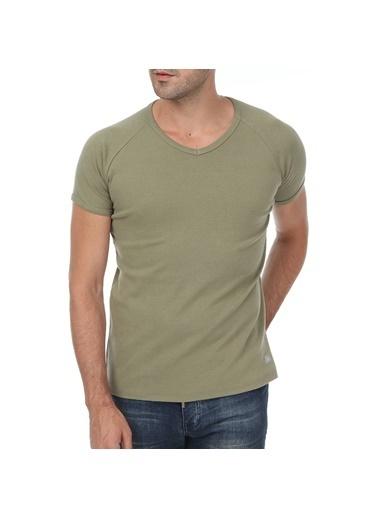 Kappa Ribana V Yakalı T-Shirt Mombo Yeşil